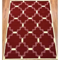 Antep Rugs Kashan King Collection 513  Area Rug Maroon and Cream 8' X 10' - 8' x 10'