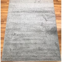 Antep Rugs Star Shaggy Collection STS2 Cozy Star Solid Area Rug Grey 8' X 10' - 8' x 10'