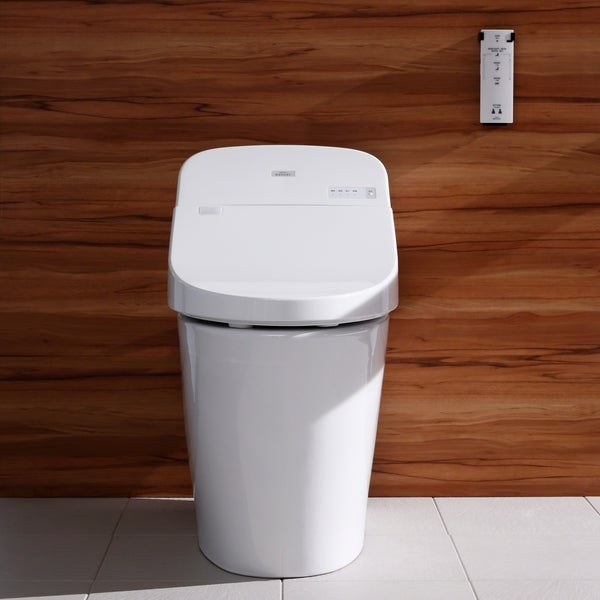Toto WASHLET G400 Bidet Seat with Integrated Dual Flush 1.28 or 0.9 GPF Toilet with PREMIST, Cotton White (MS920CEMFG#01)