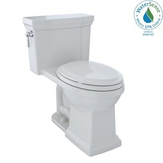 Toto Promenade II One-Piece Elongated 1.28 GPF Universal Height Toilet with CeFiONtect, Colonial White (MS814224CEFG#11)