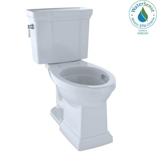 Toto Promenade II 1G Two-Piece Elongated 1.0 GPF Universal Height Toilet with CeFiONtect, Cotton White (CST404CUFG#01)