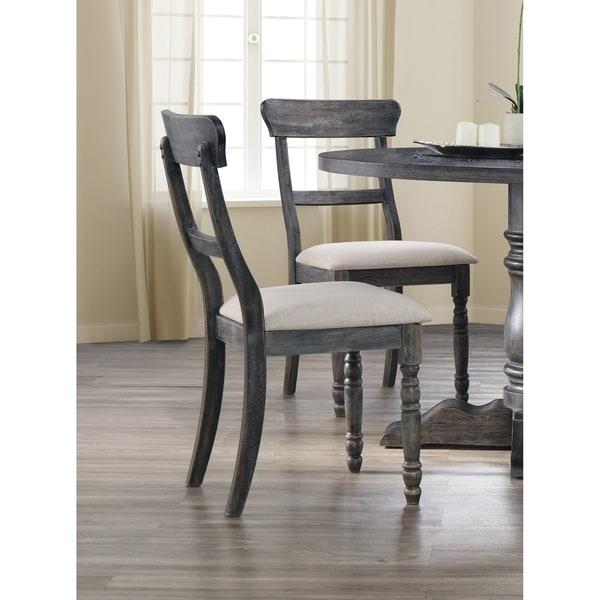 Shop Best Master Furniture Weathered Oak Sleigh: Shop Best Master Furniture Weathered Gray Side Chair (Set