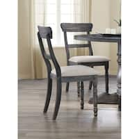 Best Master Furniture Weathered Gray Side Chair (Set of 2)