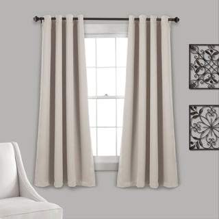Lush Decor Insulated Grommet Blackout Curtain Panel Pair (Transitional/Casual - Wheat - Solid - Blackout - Bronze Finish - 63 inches - 63 Inches)