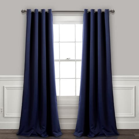 Lush Decor Insulated Grommet Blackout Curtain Panel Pair