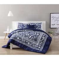 VCNY Home Eleanor 4-piece Comforter Set Full - Queen Size (As Is Item)