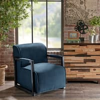 Madison Park Oliver Blue Accent Chair