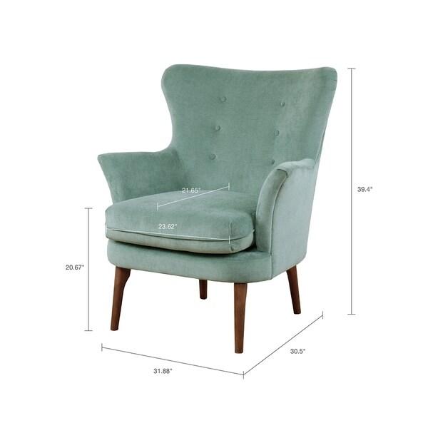 Madison Park Ellie Seafoam Accent Chair