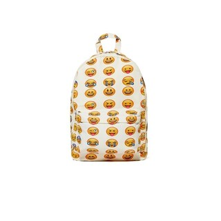 Emoji Backpacks with Back to School Essentials (Option: White)