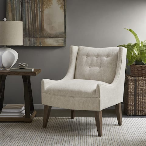 Madison Park Leigh Cream Accent Chair