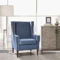 Madison Park Topeka Blue Accent Chair