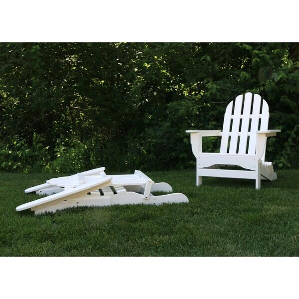 Shop Wyndtree Recycled Plastic Folding Adirondack Chair