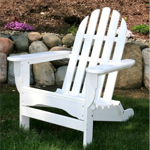 Wyndtree Recycled Plastic Folding Adirondack Chair, Assembled, Made in USA