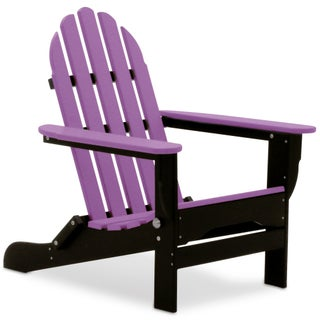DuroGreen All-Weather Adirondack Chair (Option: Black/Lilac)