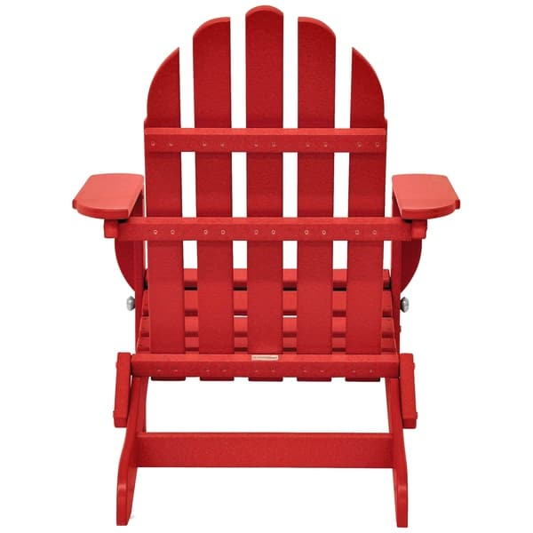 Superb Shop Wyndtree Recycled Plastic Folding Adirondack Chair Squirreltailoven Fun Painted Chair Ideas Images Squirreltailovenorg