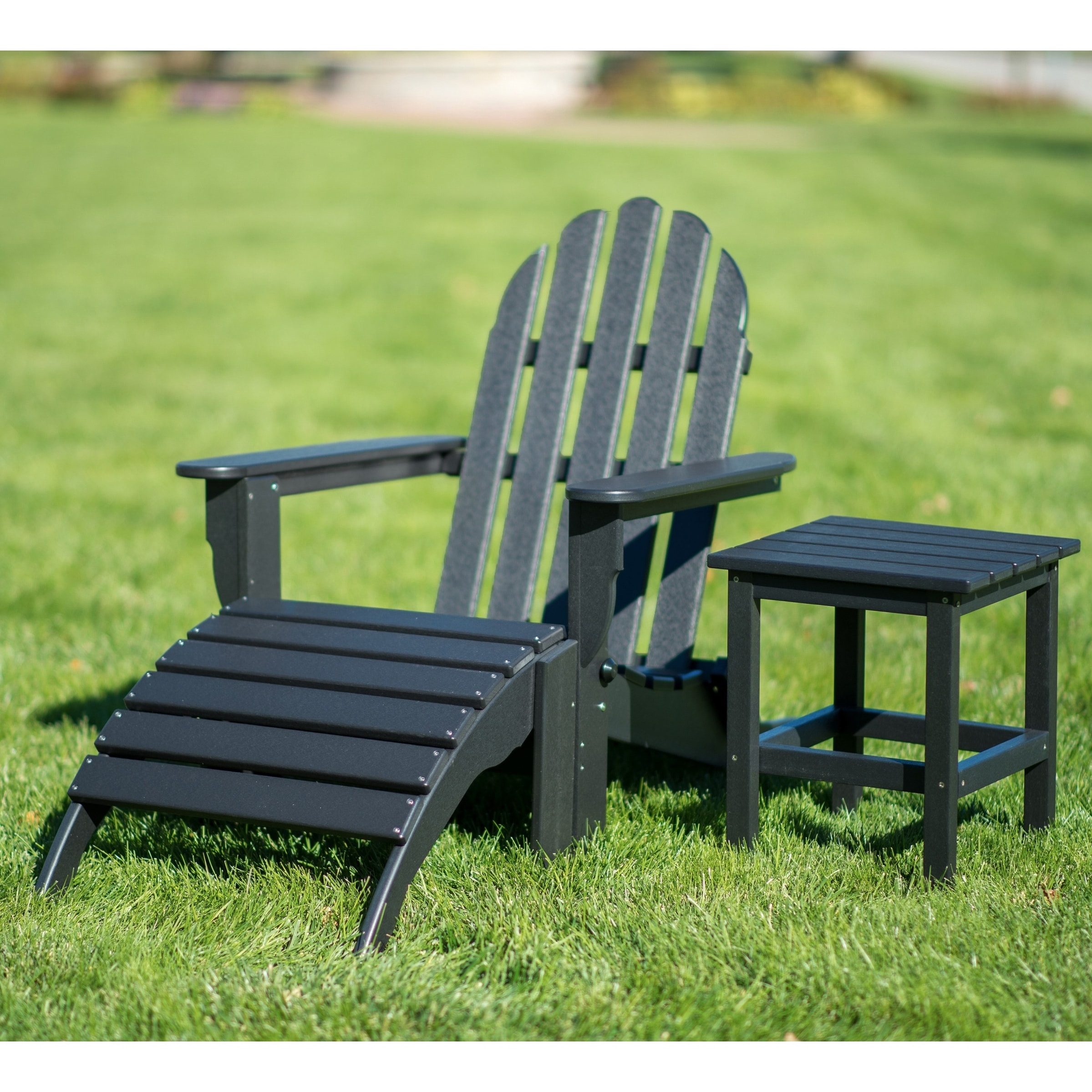 Shop For Nelson 3 Piece Folding Adirondack Chair Ottoman And Side Table Set By Havenside Home Get Free Delivery On Everything At Overstock Your Online Garden Patio Shop Get 5 In Rewards With Club O 20019668