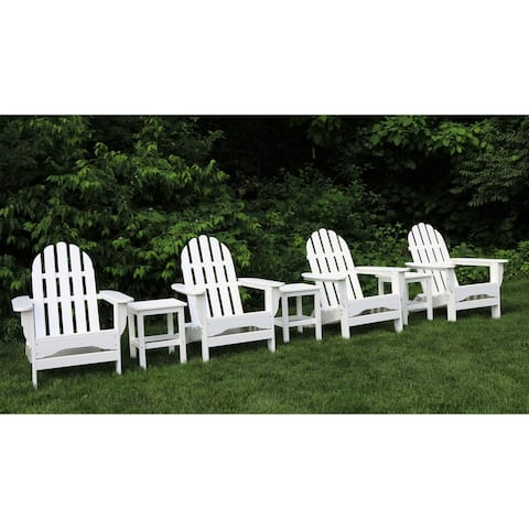 Havenside Home Nelson 7-piece Recycled Plastic Folding Adirondack Chairs and Side Table Set
