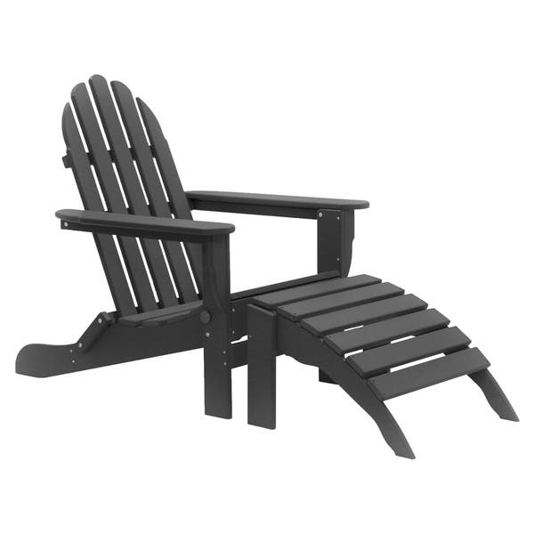 Havenside Home Nelson 8 Piece Recycled Plastic Folding Adirondack Chairs And Ottoman Set Overstock 20019782