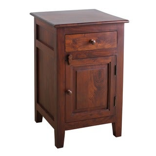 Handmade Rosewood Nightstand with Forged-iron Hardware (India)