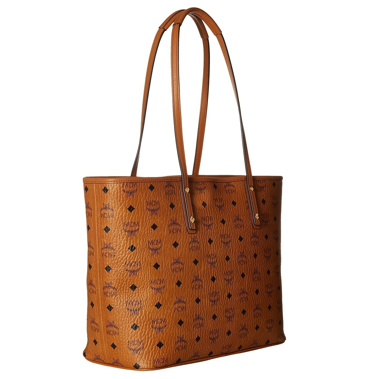 46a4d6e87 Shop MCM Anya Shopper Top Zip CognacTote Bag - On Sale - Free Shipping  Today - Overstock - 20024946