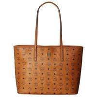 MCM Anya Shopper Top Zip CognacTote Bag