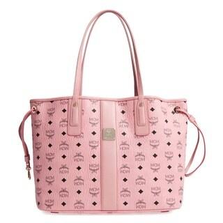 MCM Liz Reversible Medium Pink Tote Bag