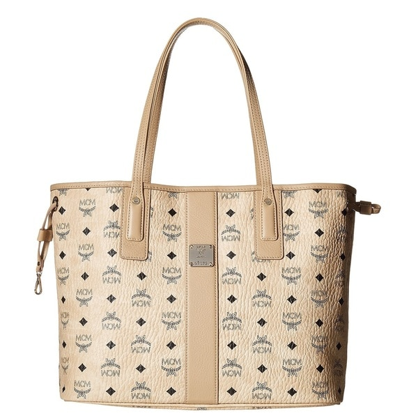 5cf96a64e Shop MCM Liz Reversible Medium Beige Tote Bag - On Sale - Free ...