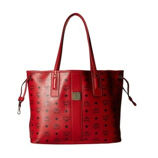 MCM Liz Reversible Medium Ruby Red Tote Bag