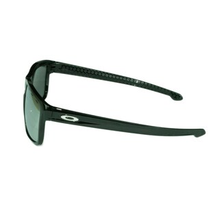 Oakley Sport Mens Sliver Vented Polished Black w/ Chrome Iridium Grey Lens Sunglasses