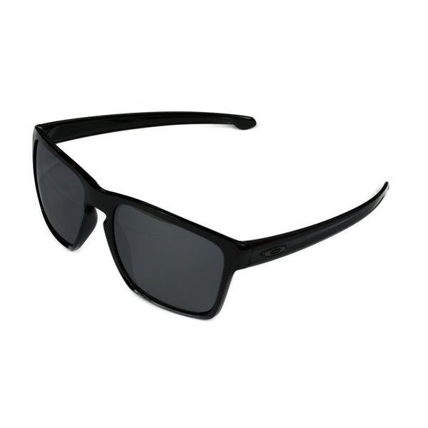 Shop Oakley Sport Mens Sliver Xl Polished Black W Black Iridium