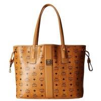 MCM Liz Reversible Medium Cognac Tote Bag