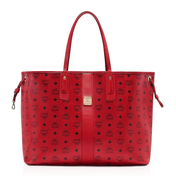 Shop Mcm Liz Reversible Large Ruby Red Tote Bag On Sale Free