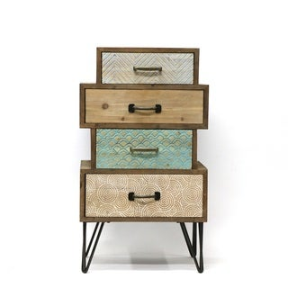 Maison Rouge Carolyn 4-drawer Wood and Metal Cabinet