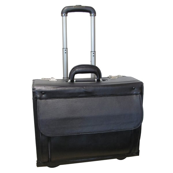af6a2e4c8d Shop Amerileather Black Wheeled Catalog Case - Free Shipping Today ...