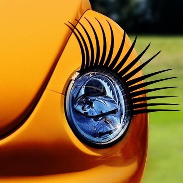 Automotive Headlamp Car Eyelash Decals Free Shipping On Orders