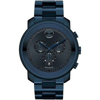 Movado Men's Bold Dark Blue Ion-plated Watch