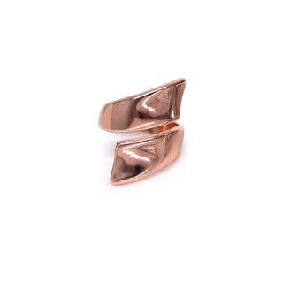Eternally Haute High Polished Rose Gold Wrap Around Ring