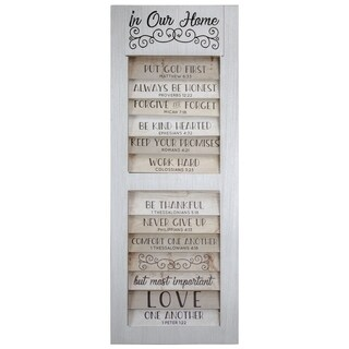 American Art Decor 10 Bible Quotes to Live By In Our Home