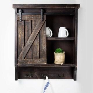 Brown Wood Wall Storage Cabinet