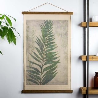 American Art Decor Leaf Wall Scroll Tapestry with Rope