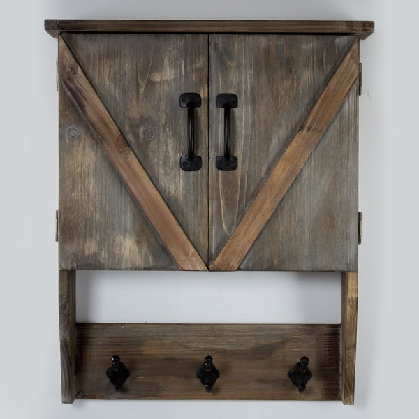 American Art Decor Farmhouse Wall Hanging Storage Cabinet