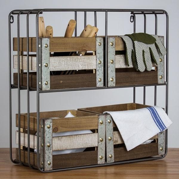 Shop American Art Decor Farmhouse Shelf Organizer With