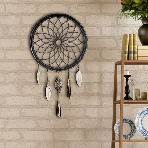 American Art Decor Farmhouse Dreamcatcher Wheel with Feathers
