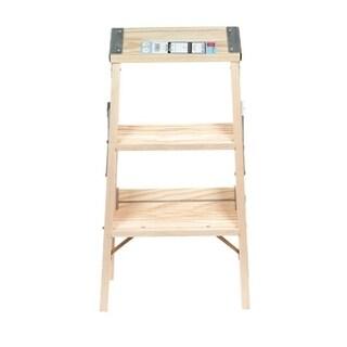 Babcock 2 Ft Wood Step Ladder 200 Lb Type Iii
