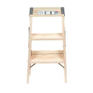 Babcock 2 ft. Wood Step Ladder 200 lb. Type III