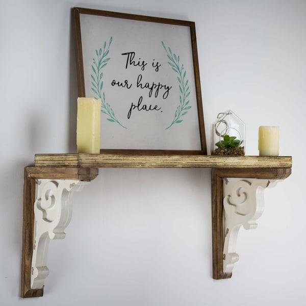 Shop American Art Decor Wooden Corbels Shelf Brackets Brown