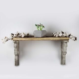 American Art Decor Wooden Corbels Farmhouse Shelf Brackets - Gray