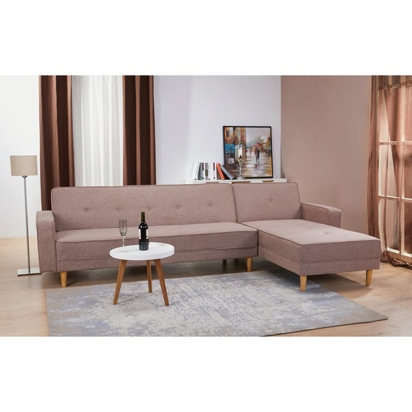 Shop Fairfax Earth Convertible Sectional Sofa Bed - Free ...