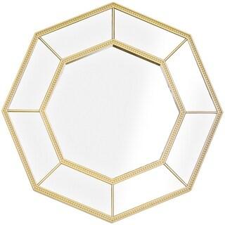 Decorative Gold Octagon Framed Wall Vanity Infinity Mirror