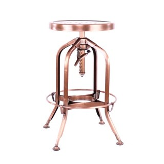 Toledo Adjustable Vintage Copper Steel Barstool 25 - 29 Inch